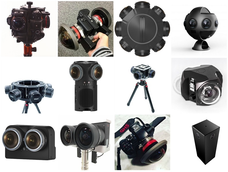 Сравнительная таблица 360-градусных камер с большими сенсорами