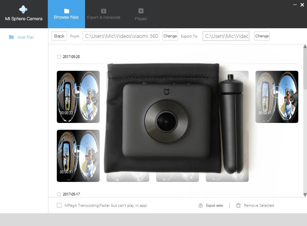Программа для сшивки видео 360 с камеры Mijia Mi Sphere 360 на компьютере