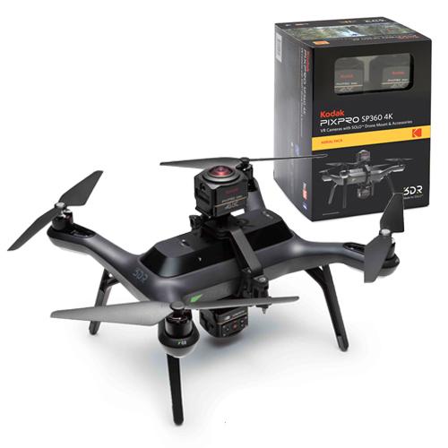 360-градусная съемка в воздухе с комплектом Kodak SP360 4k Aerial Pack и 3DR Solo