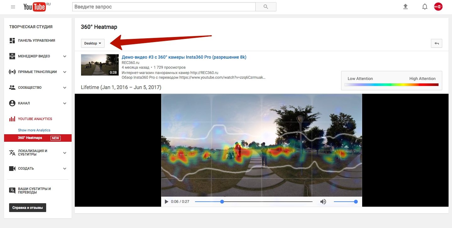 Heatmaps YouTube Analystics