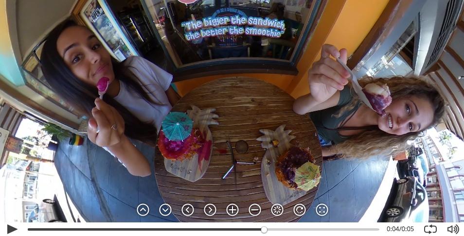 Первое видео с камеры Ricoh Theta 4K
